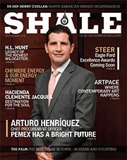 SHALE Magazine Cover July/Aug 2014 PEMEX, Arturo Henriquez