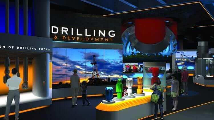 Wiess Energy Hall Drilling Gallery Artists Rendering