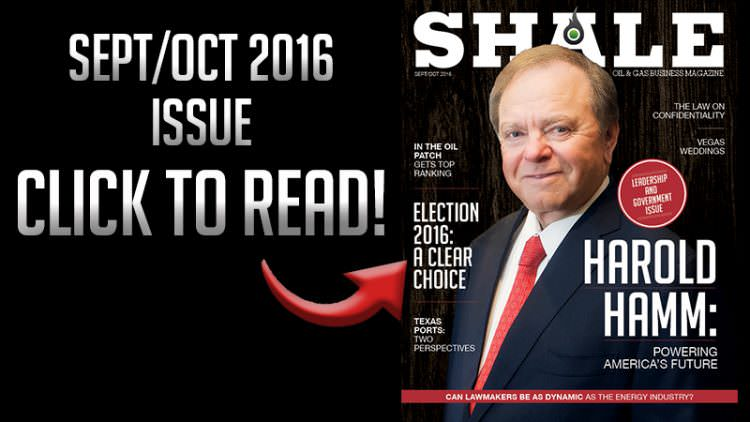 SHALE Featured September October 2016 Harold Hamm Cover