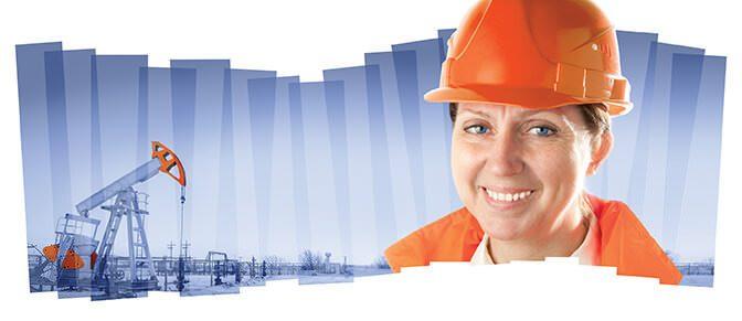 bigstock Female industrial worker in an 88475924
