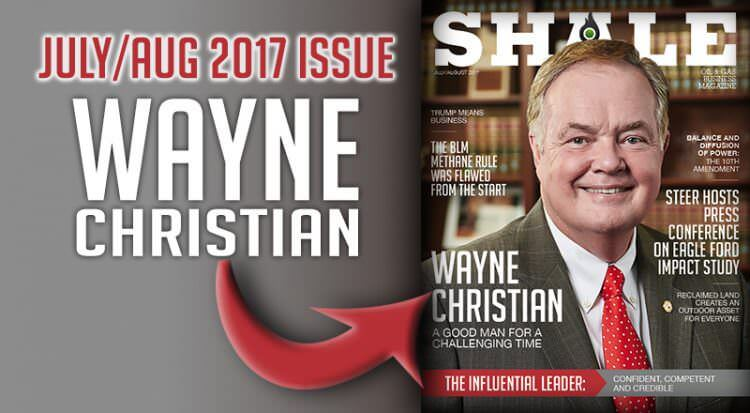 SHALE July August 2017 Featured Wayne Christian Texas Railroad Commission