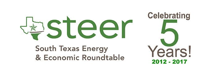 South Texas Energy & Economic Roundtable - STEER 5 Year Anniversary Logo 2