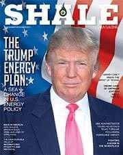 SHALE November December 2017 Issue Cover President Donald J. Trump 180x226