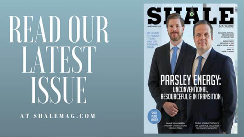 SHALE Magazine March April 2018 Parsley Energy