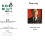 In the Oil Patch Radio Show with Guest Fahad Nazer, from the Saudi Embassy