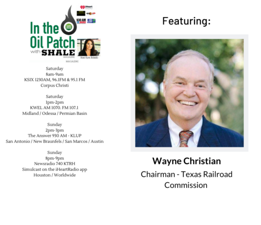 Wayne Christian, Texas Railroad Commission on ITOP
