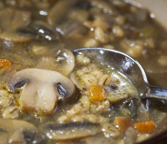 Mushroom Barley Soup: Turkey, Chicken, Beef or Vegetarian